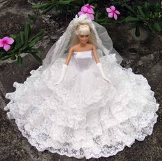 Handmade barbie Wedding Clothes Dresses Gown for Barbie Doll,Barbie cloths