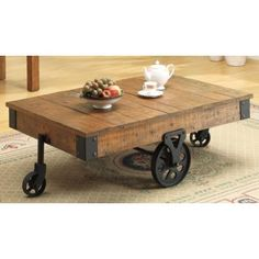 17 Stories Choncey Coffee Table Color: Brown