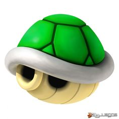 The green shell power up from Mario Kart Wii. Mario Kart 8, Super Mario Kart, Mario Und Luigi, Mario Bros., Mario Smash, New Super Mario Bros, Super Mario World, Karting, Bolo Do Mario