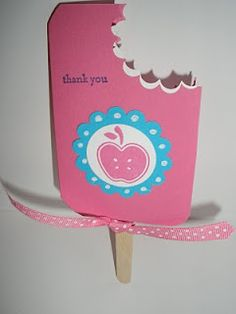 stampin' up ice cream card