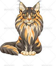 Vector Color Sketch Fluffy Maine Coon Cat #GraphicRiver Vector color sketch serious black and red fluffy Maine Coon (American Longhair) cat sitting. Fully editable, vector objects are grouped on separate layers. EPS 8 plus high-quality Jpeg. No gradients, no transparency, no blends, no meshes. Created: 15December12 GraphicsFilesIncluded: JPGImage #VectorEPS Layered: Yes MinimumAdobeCSVersion: CS Tags: AmericanLonghair #Predatory #animal #beautiful #black #breed #cartoon #cat #characters…