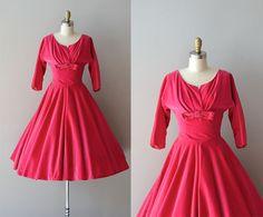 St. Valentine dress / vintage 1950s dress / pink by DearGolden, $174.00