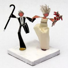 The Running Bride and Groom- Cake Topper!