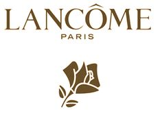 """Lancome // Probably my favorite branding!! Nice obvious letters, and then a clear graphic on the bottom, overall super clean. I was thinking since Jing is more boxy, maybe it woulnd't look so good on the bottom, maybe on the side? But perhaps you may find a way to look good on the bottom, or over lapping layers! Also, instead of the """"blocky"""" letters, I'd prefer Victoriamisu to be written like it is calligraphy, with the Jing metallic, if that would look good."""