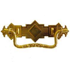 Eastlake Brass Drawer Pull