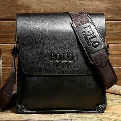 Tracolla UOMO Pelle Cuoio Nera Borsello Originale POLO videng Borsa iPad iPhone in Abbigliamento e accessori, Uomo: accessori, Borse, zaini e marsupi | eBay