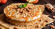 This decadent dessert is better than just having a caramel apple on a stick. Everyone will devour this apple cake sprinkled with pecans and drizzled in caramel sauce. Apple Dessert Recipes, Köstliche Desserts, Delicious Desserts, Layered Desserts, Ice Cream Toppings, Apple Cake, Caramel Apples, Yummy Cakes, Cheesecake