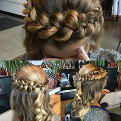 Halo braid for prom hair client
