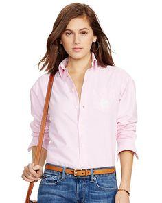 Relaxed Classic Monogram Shirt - Polo Ralph Lauren Long-Sleeve - RalphLauren.com