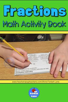 Learn about fractions with this fun math activity book. Includes fraction terms, fractions on a number line, whole numbers as fractions, improper fractions, mixed numbers, and equivalent fractions. #math #fractions Fraction Activities, Fun Math Activities, Learning Resources, Math Games, Classroom Resources, Math Classroom, Improper Fractions, Equivalent Fractions, Teaching Math