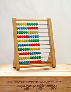 Vintage Wooden Abacus by GoodnightPrudence on Etsy, £15.00