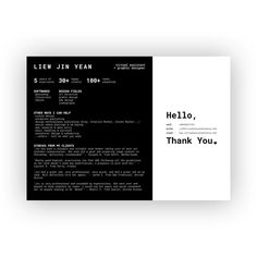 Resume design for my Virtual Assistant + Graphic Design business - minimal landscape mode A4 resume template.