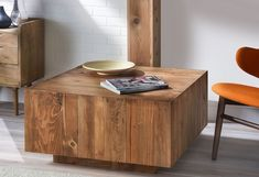 Wood Block Coffee Table | DIY Coffee Table Ideas For The Budget-Conscious Decorator