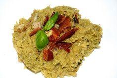 Budget Paleo...Made Easy: Paleo Sun dried Tomato Basil Pesto Chicken on Spaghetti Squash