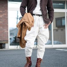 "BLACK SIGN ""Vintage Chino Motorcycle Breeches""#blcksign"