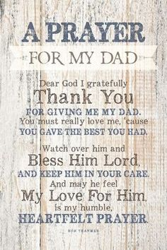 Dad (Father) Prayer Wood Plaque with Inspiring Quotes - Classy Vertical Frame Wall & Tabletop Decoration Prayer For My Friend, Prayer For Fathers, Prayer For Parents, Fathers Day Poems, Father Quotes, Prayer Quotes, My Dad Quotes, Dad In Heaven Quotes, Missing Dad Quotes