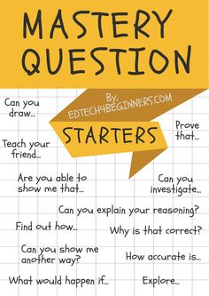 Maths Mastery Questions Starters