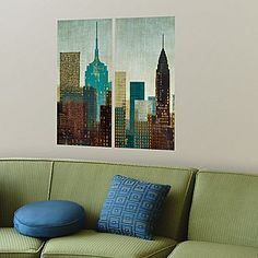 New York Skyline Panels Wall Decals - jcpenney