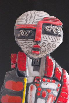 Raku sculpture by Dominique Allain - ego-alterego.com