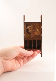 Dollhouse 1:12 OOAK Modernisme marquetry cabinet by Inchscaled