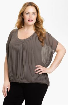 Kische Pleated Chiffon Top (Plus) available at #Nordstrom