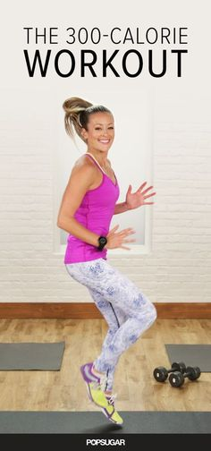 This intense 30-minute workout keeps you moving, mixing cardio moves with weight lifting to maximize your metabolism.