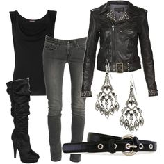 I still don't know about skinny jeans.. but I bet I could deal if it was this outfit :)