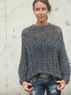 RESERVADO para SARAH / gris grueso suéter por ileaiye en Etsy