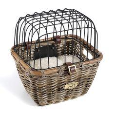 Rattan Pet Bicycle Basket from CallingAllDogs.com