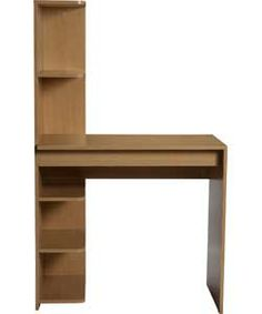 Millbank Office Desk - Oak Effect. Oak Desk, Spare Room, Office Desk, Shelves, Argos, Desks, House, Stuff To Buy, Shopping
