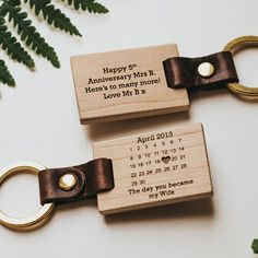 Personalised 'The Day You Became My' Calendar Wood Keyring Personalised Calendar, Personalised Keyrings, Wooden Calendar, My Calendar, Personalized Fathers Day Gifts, Personalized Stockings, Gravure Laser, Gifts For Husband, Husband Wife