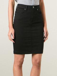 Burberry Brit High Waisted Denim Skirt - Cuccuini - Farfetch.com