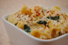 Someone turned our favorite dip into a dinner! Wassup, Spinach Artichoke Pasta?