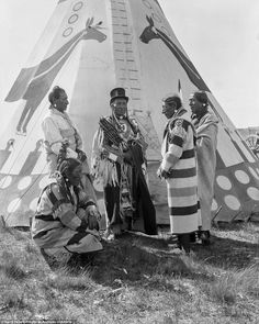 Meeting time:The Siksika, Kainai, and Piikani tribes were forced to settle on reservations in Canada by the turn of the 20th century. Here a meeting of the Siksika Council is captured on camera