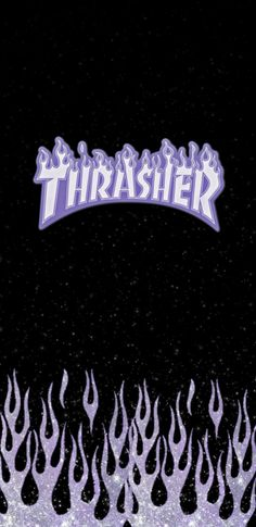 Purple Glitter Thrasher