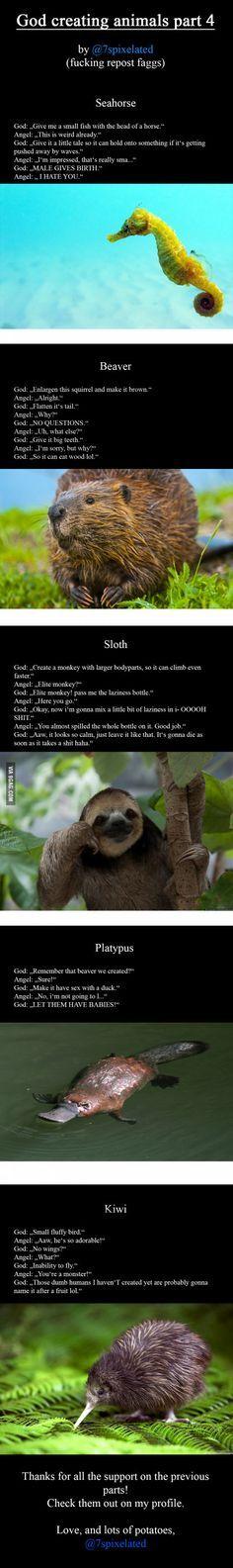 God creating animals part 4