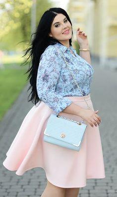 cool Błękit i róż, na słodko by http://www.globalfashionista.xyz/plus-size-fashion/blekit-i-roz-na-slodko/