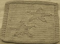 DigKnitty Designs: Starfish too Knit Dishcloth Pattern