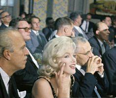 Marilyn Monroe at the banquet in honour of Nikita Khrushchev, 1959.