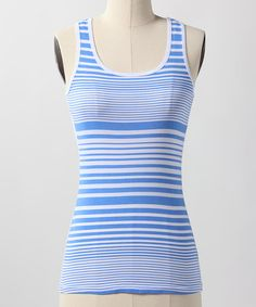 Take a look at this Marina Stripe Tank by Down East Basics on #zulily today!  $9.99 GREAT layering shirt. Can also be worn alone.