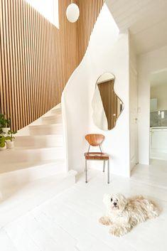 House Extension Design, House Design, Copenhagen Apartment, Room Interior, Interior Design, Hallway Designs, Acoustic Panels, House Extensions, Living Room Sets
