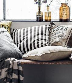 #interior #decor #styling #scandinavian #nordic #modern #vintage #cushions #H&M #Home