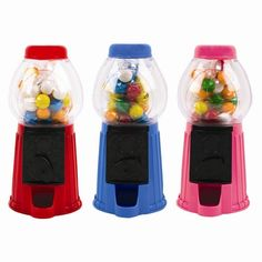 Mini Gumball Dispenser Machine  Bubble Gum Toy Christmas Red Pink Blue Post Free