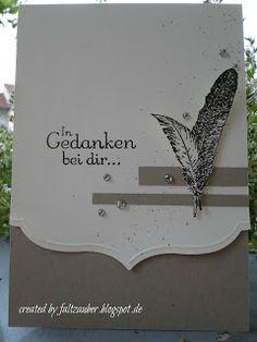 Faltzauber: Trauerkarte .... feathers