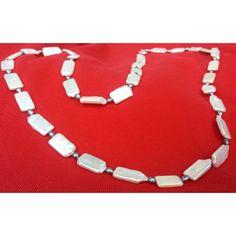 Collar Laminas de Perlas // Pearls Layers Necklace by joyeria-harmony.com
