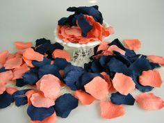 Koralle und blau Rose Petals 200 künstliche von MorrellDecor