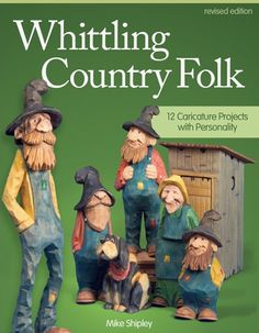 Whittling Country Folk : 12 Caricature Projects with Personality by Mike Shipley Paperback, Revised) for sale online Whittling Patterns, Whittling Projects, Whittling Wood, Simple Wood Carving, Carving Wood, Face Study, Cement Crafts, Wood Carving Patterns, How To Make Toys