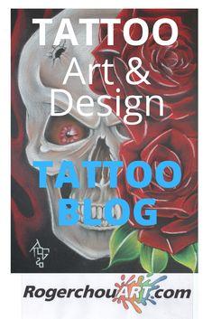 Tattoo BLOG. Original Tattoo ART and DESIGN at Rogerchouart.com Tattoo Blog, Tattoo Art, Original Tattoos, Garage Art, Tattoo Designs, Books, Libros, Book, Tattooed Guys