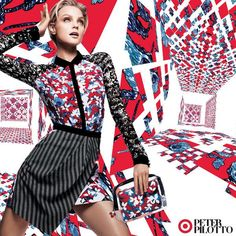 Net-a-Porter Teases Peter Pilotto for Target Collaboration with Jessica Stam Preview Campaign - theFashionSpot
