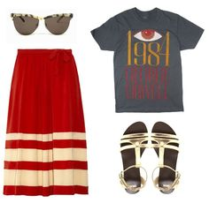 moodboard. tee, stripes and glasses